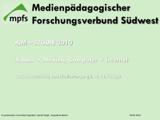 Es präsentiert: Franziska Erzgräber, Daniel Singh,  Jacqueline Balzer09.05.2012