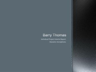 Barry Thomas