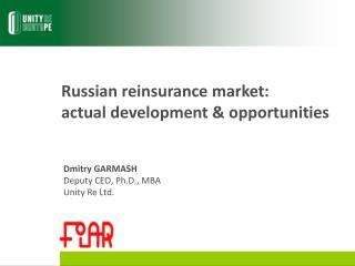 Russian reinsurance market:  actual development & opportunities
