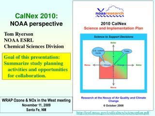 Tom Ryerson NOAA ESRL Chemical Sciences Division