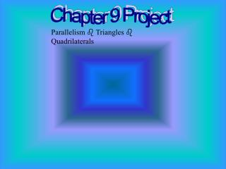 Chapter 9 Project