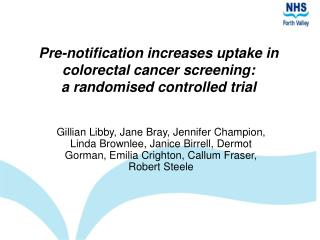 Pre-notification increases uptake in colorectal cancer screening: a randomised controlled trial
