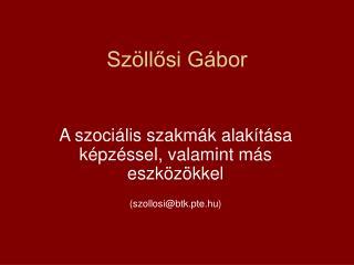 Szöllősi Gábor