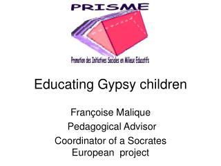 Educating Gypsy children
