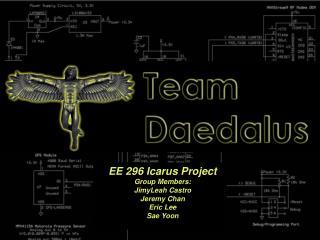 EE 296 Icarus ProjectGroup Members:JimyLeah CastroJeremy ChanEric LeeSae Yoon