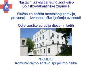 Nastavni  zavod  za  javno zdravstvo Splitsko-dalmatinske �upanije