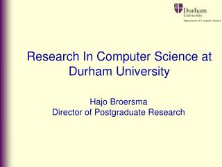 Research In Computer Science at Durham University