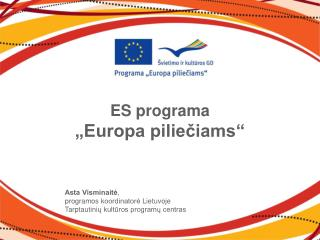 "ES programa  ""Europa piliečiams"""