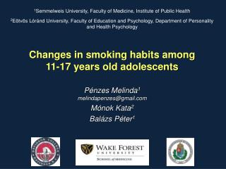 Changes in smoking habits among  11-17  years  old  adolescents