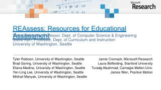 REAssess: Resources for Educational Assessment
