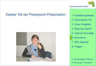 Zweiter Teil der Powerpoint-Präsentation
