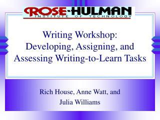 Writing Workshop: