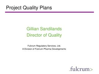 Project Quality Plans