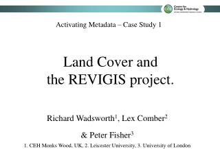 Land Cover and  the REVIGIS project.