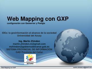 Web Mapping con GXP configuraci ón con Geoserver y Postgis