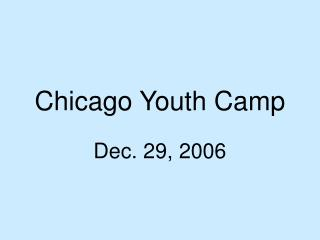 Chicago Youth Camp