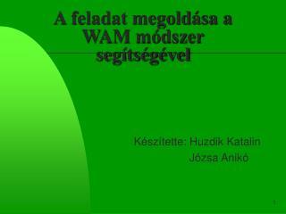 A feladat megoldása a WAM módszer segítségével