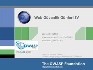 Web G�venlik  G�nleri IV
