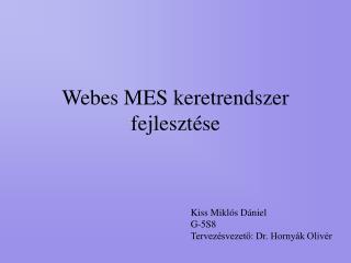 Webes MES keretrendszer fejlesztése