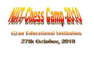 NIIT Chess Camp 2010