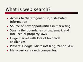 What is web search?