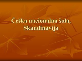 Češka nacionalna šola, Skandinavija