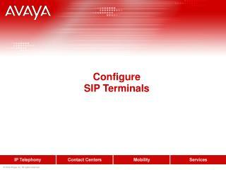 Configure SIP Terminals
