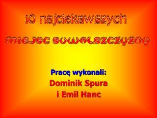 Pracę wykonali: Dominik Spura  i Emil Hanc