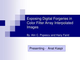 Presenting -  Anat Kaspi