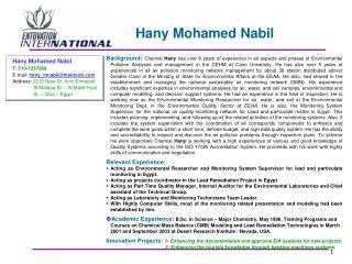 Hany Mohamed Nabil