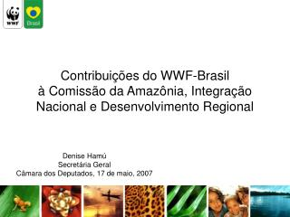 Contribuições do WWF-Brasil à Comissão da Amazônia, Integração Nacional e Desenvolvimento Regional