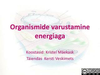 Organismide varustamine energiaga