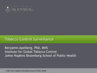 Tobacco Control Surveillance