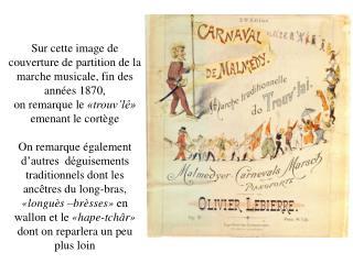 Sur cette image de couverture de partition de la marche musicale, fin des années 1870,