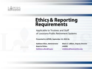 The Louisiana Code of  Governmental Ethics- What You Need to Know About the Code