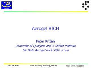 Aerogel RICH