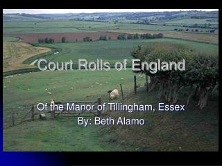 Court Rolls of England