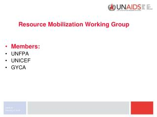 Resource Mobilization Working Group