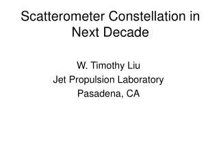 Scatterometer Constellation in Next Decade