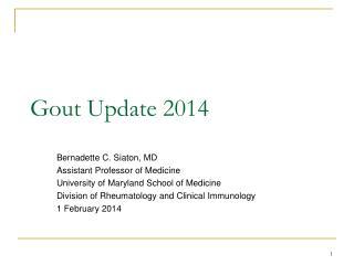 Gout Update 2014