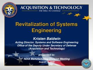 Revitalization of Systems Engineering