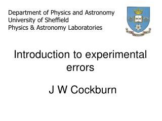 Introduction to experimental errors