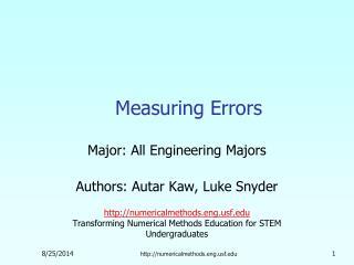 Measuring Errors