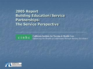 2005 Report   Building Education/Service Partnerships:  The Service Perspective