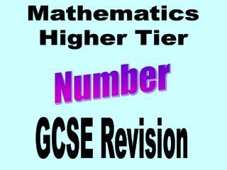 Mathematics Higher Tier