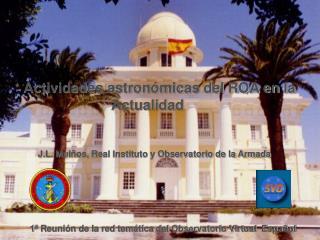 Actividades astronómicas del ROA en la Actualidad