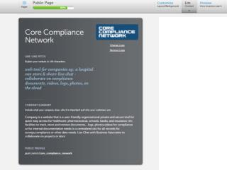 Slide show presentation of  Core Compliance Network's features and capabilities