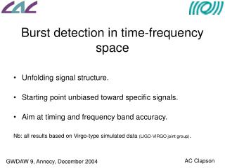 Burst detection in time-frequency space