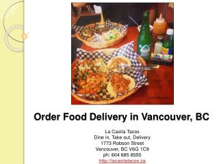 Order food delivery in Vancouver BC