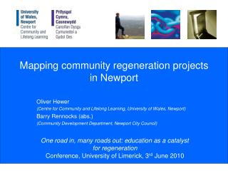 Mapping community regeneration projects in Newport